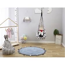 Round Rug Kids Room Rug Baby Play Mat 120cm