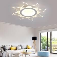 Acrylic Sun Led Ceiling Lamp Kid Bedroom Cartoon Flush Mount Light In Warm White Beautifulhalo Com