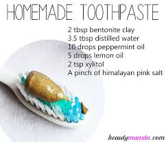 homemade toothpaste with bentonite clay