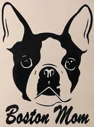 Boston Terrier Mom Boston Terrier Dad Vinyl Decal Choose Color And Text Ebay