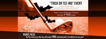free golf trick or tee ing at
