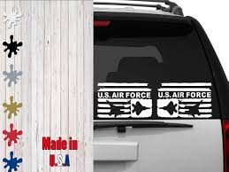 Us Airforce Distressed Subdued Flags Car Decal Laptop Decal By Veiledtrove On Etsy Air Force Navy Army Vet Vete Custom Cars Car Decals Custom Car Parts