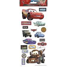 Disney Cars Paper Craft 5 5 X 12 Sticker Clear Walmart Com Walmart Com