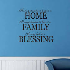 Home Family Blessing Wall Decal Inspirational And Motivational Attitude Vinyl Wall Sticker For Office Gym Room Inspirational Lettering Stickers Home Wall Decorations Black Wish