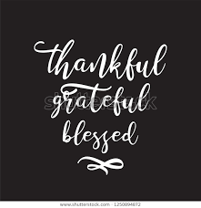 motivational inspirational quote thankful grateful blessed stock