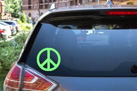 Simple Peace Sign Car Decal Sticker Laptop Tablet Plain Etsy