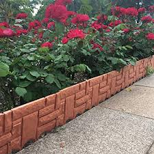 Amazon Com Qiguch66 Garden Decorative Edging Fence Faux Brick Landscape Fencing For Patios Gardens Lawn Edge Border Small Animal Barriers 9 45 X 8 66 6pcs Home Kitchen