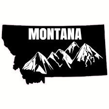 Mt Home Car Vinyl Sticker Add A Heart Over A City Montana State Home Decal