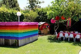patio backyard party theme summer
