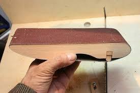sanding block for belt sander bands