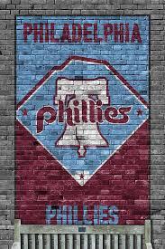 Philadelphia Phillies Brick Wall Art Print By Joe Hamilton