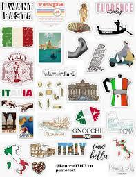 Italy Sticker Pack Sticker By Lauren53103 In 2020 Iphone Case Stickers Aesthetic Stickers Stickers Packs