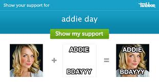 addie day - Support Campaign | Twibbon
