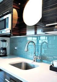 blue glass tile backsplash
