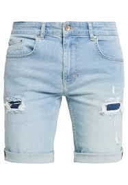 rvlt denim shorts men blue clothing