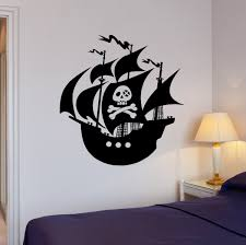 Wall Decal Pirates Ship Sea Ocean Sailors Vinyl Sticker Ed1842 Wallstickers4you
