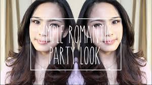 simple romantic party look bahasa