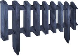 Floranica Wooden Panel New Version 2021 Picket Border Fence As A Garden Front Yard Fence Weather Resistant Treatment Color Anthracite Size 4 Pcs 104cm Long 40cm Height Amazon Co Uk Garden Outdoors