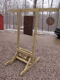 homemade target stand for long distance