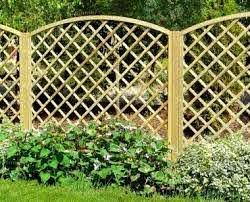 Fence Panel 638 Planed Timber 110x110mm Trellis 2x2 Frame