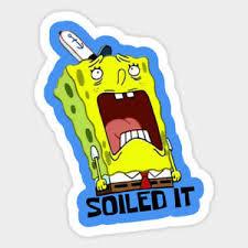 Spongebob Squarepants Soiled It Sobbing Funny Vinyl Decal Laptop Car Sticker Ebay
