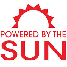 Powered By The Sun Sticker Decal For Your Electric Car