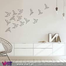 Drawn Origami Flock Of Birds Wall Stickers Wall Art Viart