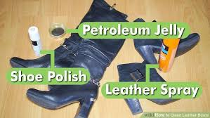 how to clean leather boots on