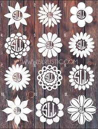 Flower Monogram Decal Car Decal Yeti Decal Slrustic