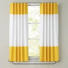 Color Edge Curtain Panels Yellow Yellow Curtains Color Block Curtains Kids Curtains