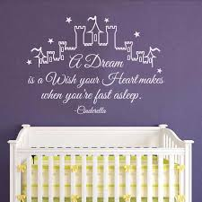 Cinderella Wall Decal Quote A Dream Is A Wish Your Heart Makes Girl Wall Stickers Nursery Wall Decal Kids Girls Bedroom M248 Wall Stickers Aliexpress