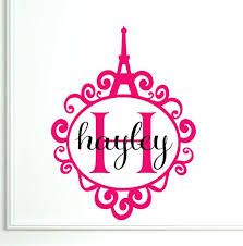 Www Etsy Com Personalized Wall Decal Monogram Paris Eiffel Tower By Decalhappy You Can Also Customize Personalized Wall Decals Wall Decals Door Makeover Diy