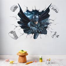 3d Wall Stickers Of Batman Lifelike And Mind Bending