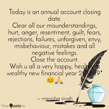 today is an annual accoun quotes writings by manisha singh
