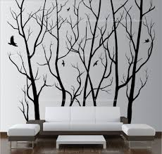Simple Tree Design With Birds Wall Art For Home Pinterest Independence