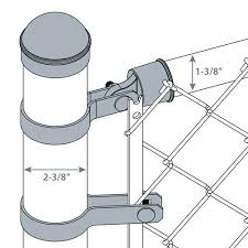 2 3 8 Galvanized Chain Link Fence End Post Kit At Menards