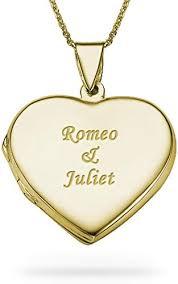 18k gold plated engraved heart locket