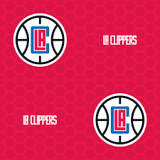 los angeles clippers logo pattern red