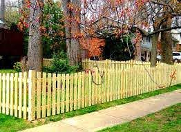 Scalloped Picket Fence Picket Fence Design Ideas Low Level Fence Limited Privacy Fence Family Fence Fences For Children Pet Fence Design Fence Pasture Fencing