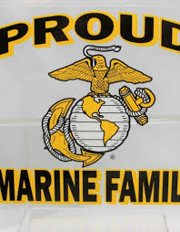 Proud Marine Family With Ega Emblem 4x4 5 Decal Stars Stripes The Flag Store