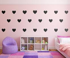 Diy Hearts Wall Decals Vinyl Decal Home Decor Gold Wall Stickers The Personalized Gift Co