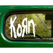 Amazon Com 2 Korn Decal Band Stickers White Die Cut For Window Car Jeep 4x4 Truck Laptop Bumper Rv Home Kitchen
