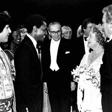 Queen Elizabeth, the Queen Mother meeting Arthur Mitchell before the  performance - Marbeth — Google Arts & Culture