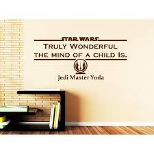 Yoda Wall Decal Quote Star Wars Truly Wonderful The Mind Of A Child Is Walmart Com Walmart Com