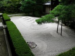 meditation and zen garden landscape