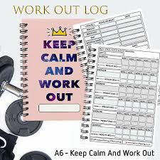 journal book fitness reps sets