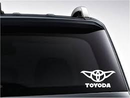 Toyoda Vinyl Decal Toyota Yoda Mashup Great Gift You Etsy Vinyl Decals Star Wars Decal Yoda Decals