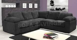 camden large corner sofa black high