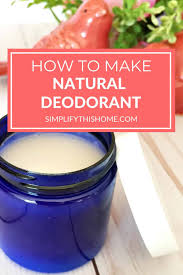 natural homemade deodorant recipe that