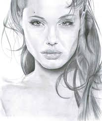 ANGELINA JOLIE PENCIL DRAWING, by Artist Sophie Lawson